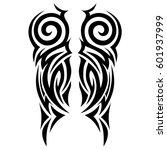 vector tribal tattoo designs.... | Shutterstock .eps vector #601937999
