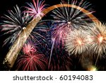 Fireworks Of Multiple Colors...