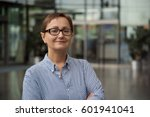 headshot of business woman in... | Shutterstock . vector #601941041