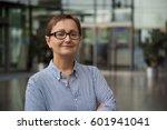 headshot of business woman in... | Shutterstock . vector #601941041