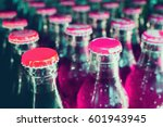 glass bottles with soft drinks... | Shutterstock . vector #601943945
