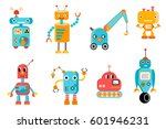 vector set of eight colorful... | Shutterstock .eps vector #601946231