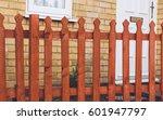 small brown  orange wooden...   Shutterstock . vector #601947797