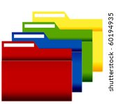 file folders with label 4 pack