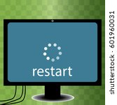 restart icon in trendy flat...
