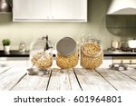 desk in kitchen  | Shutterstock . vector #601964801