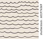 sea waves. vector seamless...   Shutterstock .eps vector #601976369