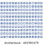 collection of icons signs and... | Shutterstock .eps vector #601981475