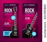 vector rock festival ticket... | Shutterstock .eps vector #601985885
