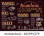 food menu for restaurant and... | Shutterstock .eps vector #601991279