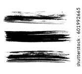 set of ink vector brush strokes.... | Shutterstock .eps vector #601992665
