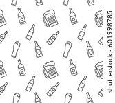 Beverage seamless pattern vector background