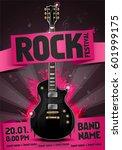 vector rock festival flyer... | Shutterstock .eps vector #601999175