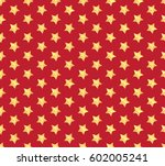 gold star pattern on red... | Shutterstock . vector #602005241
