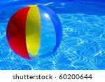 multicolored beach ball... | Shutterstock . vector #60200644