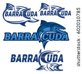 barracuda logo | Shutterstock .eps vector #602010785