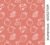 fruits seamless pattern icon... | Shutterstock .eps vector #602027339