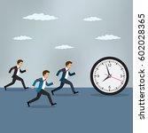 businessmen chasing pocket... | Shutterstock .eps vector #602028365