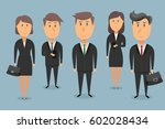 business team. five people in... | Shutterstock .eps vector #602028434