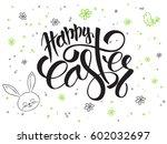 vector hand lettering greetings ...   Shutterstock .eps vector #602032697