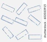 a set of empty rectangular... | Shutterstock .eps vector #602033915