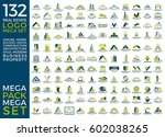 mega set and big group  real... | Shutterstock .eps vector #602038265