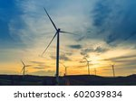 wind turbines for electricity... | Shutterstock . vector #602039834