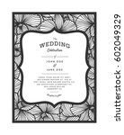laser cut vector wedding... | Shutterstock .eps vector #602049329
