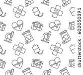 medicine seamless vector... | Shutterstock .eps vector #602050391