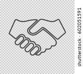 partnership vector. handshake... | Shutterstock .eps vector #602051591