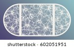 laser cut vector wedding... | Shutterstock .eps vector #602051951
