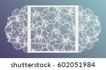 laser cut vector wedding... | Shutterstock .eps vector #602051984