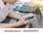 business technology concept... | Shutterstock . vector #602054591