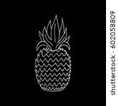 pineapple.  | Shutterstock .eps vector #602058809