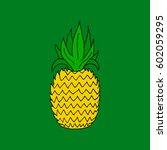 pineapple.    Shutterstock .eps vector #602059295