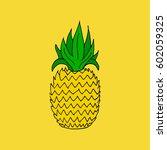 pineapple.  | Shutterstock .eps vector #602059325