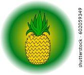 pineapple.  | Shutterstock .eps vector #602059349