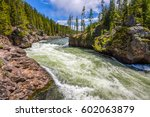 forest wild river landscape.... | Shutterstock . vector #602063879