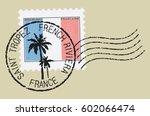 postal stamp symbols 'saint... | Shutterstock .eps vector #602066474