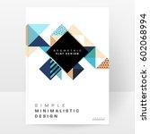 memphis geometric background... | Shutterstock .eps vector #602068994