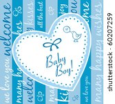 baby boy arrival announcement... | Shutterstock .eps vector #60207259