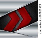 vector of abstract metallic... | Shutterstock .eps vector #602072921