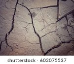 closeup surface of cracked dry... | Shutterstock . vector #602075537