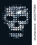 computer virus skull danger...   Shutterstock .eps vector #602079584