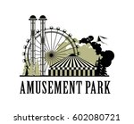 illustration poster amusement... | Shutterstock . vector #602080721