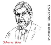 johannes hahn hand drawn vector ... | Shutterstock .eps vector #602081471