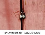 Old Flaking Pink Doors Closed...