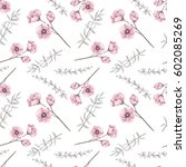 romantic seamless pattern of... | Shutterstock . vector #602085269