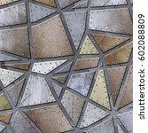 steel metal plate background  3d | Shutterstock . vector #602088809
