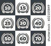 vector set of anniversary... | Shutterstock .eps vector #602105849